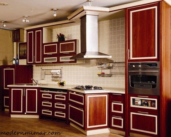 En Güzeli Bordo Mutfak Modelleri