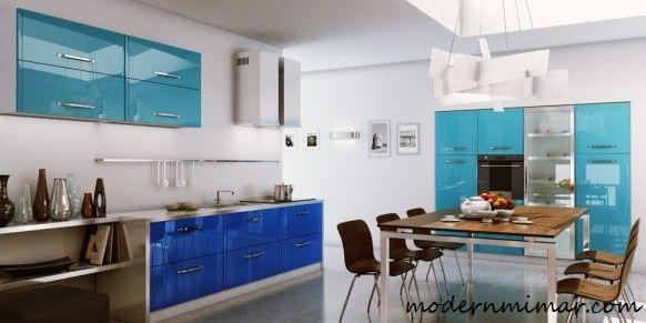Geniş-mutfaklar-için-açık-mavi-mutfak-modelleri