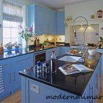 Kullanışlı Açık Mavi Mutfak Modelleri