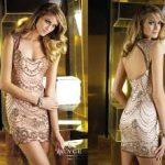 Gold İşlemeli Şifon Abiye Modelleri