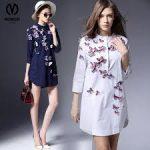 Moda Günlük Üç Boyutlu Baskılı Bayan Elbisesi Modelleri
