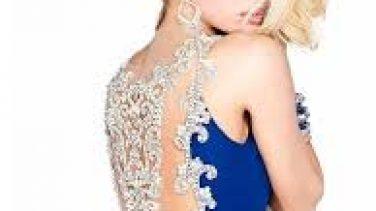 Tesettürlü Bayanlara 2017 İşlemeli Şifon Abiye Modelleri