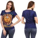 Spor Üç Boyutlu Baskılı Bayan tişört Modelleri