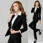Siyah Bayan Takım Elbise Modelleri