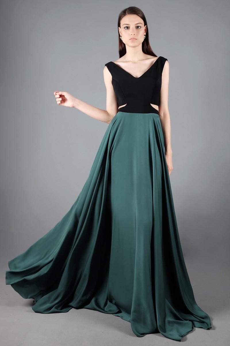 Genc Kiz Icin Dekolteli Abiye Elbise Modelleri Kadin Modasi Ve