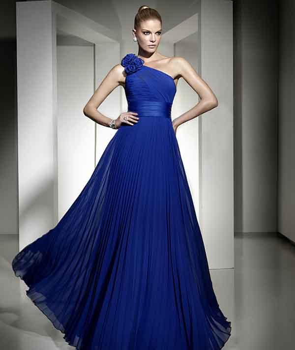 9e595f632b21e Tek omuz Açık Dekolteli Abiye Elbise Modelleri - Kadın Modası ve ...